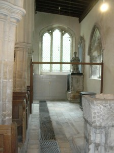 The north aisle free of the vestry and other furniture – a wonderful meeting and exhibition space